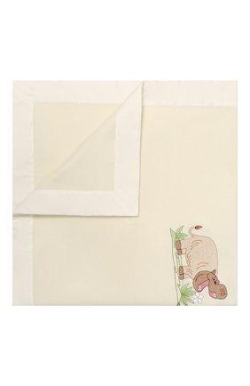 Детского шерстяное одеяло LORETTA CAPONI белого цвета, арт. 182K13308302002 | Фото 1