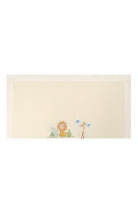 Детского шерстяное одеяло LORETTA CAPONI белого цвета, арт. 182K13308302002 | Фото 2