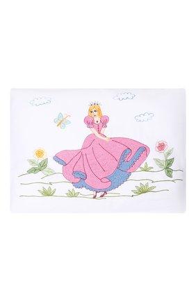 Детского подушка с вышивкой LORETTA CAPONI белого цвета, арт. 182K15198301701 | Фото 1