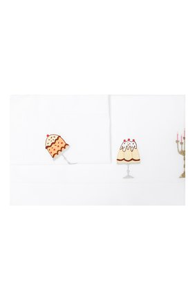 Детского хлопковый комплект из наволочки и простыни LORETTA CAPONI белого цвета, арт. 182K21198300701 | Фото 1