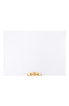 Детского хлопковый пододеяльник с вышивкой LORETTA CAPONI белого цвета, арт. 182K23188301701 | Фото 1