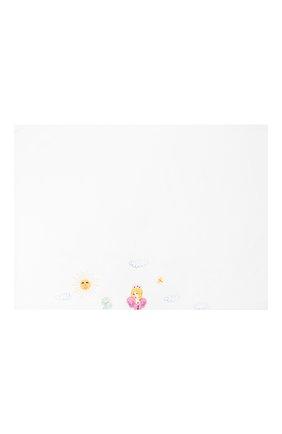 Детского хлопковый пододеяльник с вышивкой LORETTA CAPONI белого цвета, арт. 182K23198301701 | Фото 1