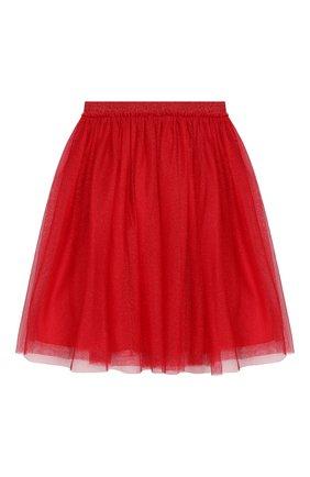 Многослойная юбка с эластичным поясом | Фото №1