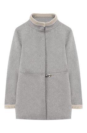 Шерстяное пальто с воротником-стойкой | Фото №1