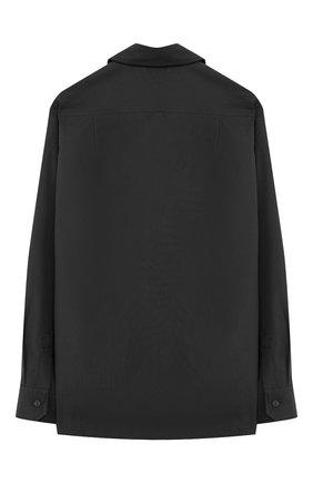 Детская хлопковая рубашка с воротником кент DOLCE & GABBANA темно-синего цвета, арт. L42S72/FU5GK/2-6 | Фото 2