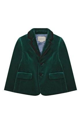 Бархатный пиджак с отделкой | Фото №1