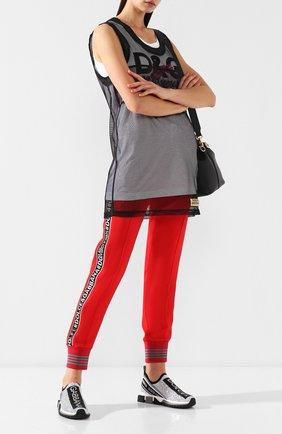Женские комбинированные кроссовки sorrento с отделкой стразами DOLCE & GABBANA белого цвета, арт. CK1644/AZ144 | Фото 2