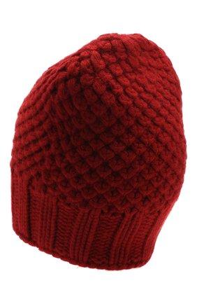 Женский кашемировая шапка gray glace фактурной вязки LORO PIANA красного цвета, арт. FAI3508 | Фото 2