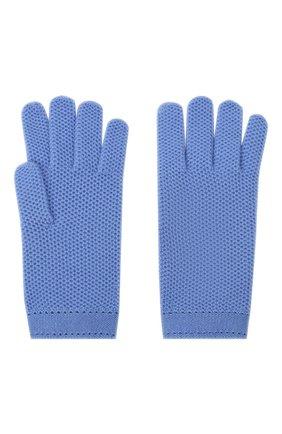 Женские кашемировые перчатки LORO PIANA синего цвета, арт. FAA1252 | Фото 2 (Материал: Кашемир, Шерсть; Статус проверки: Проверено, Проверена категория)