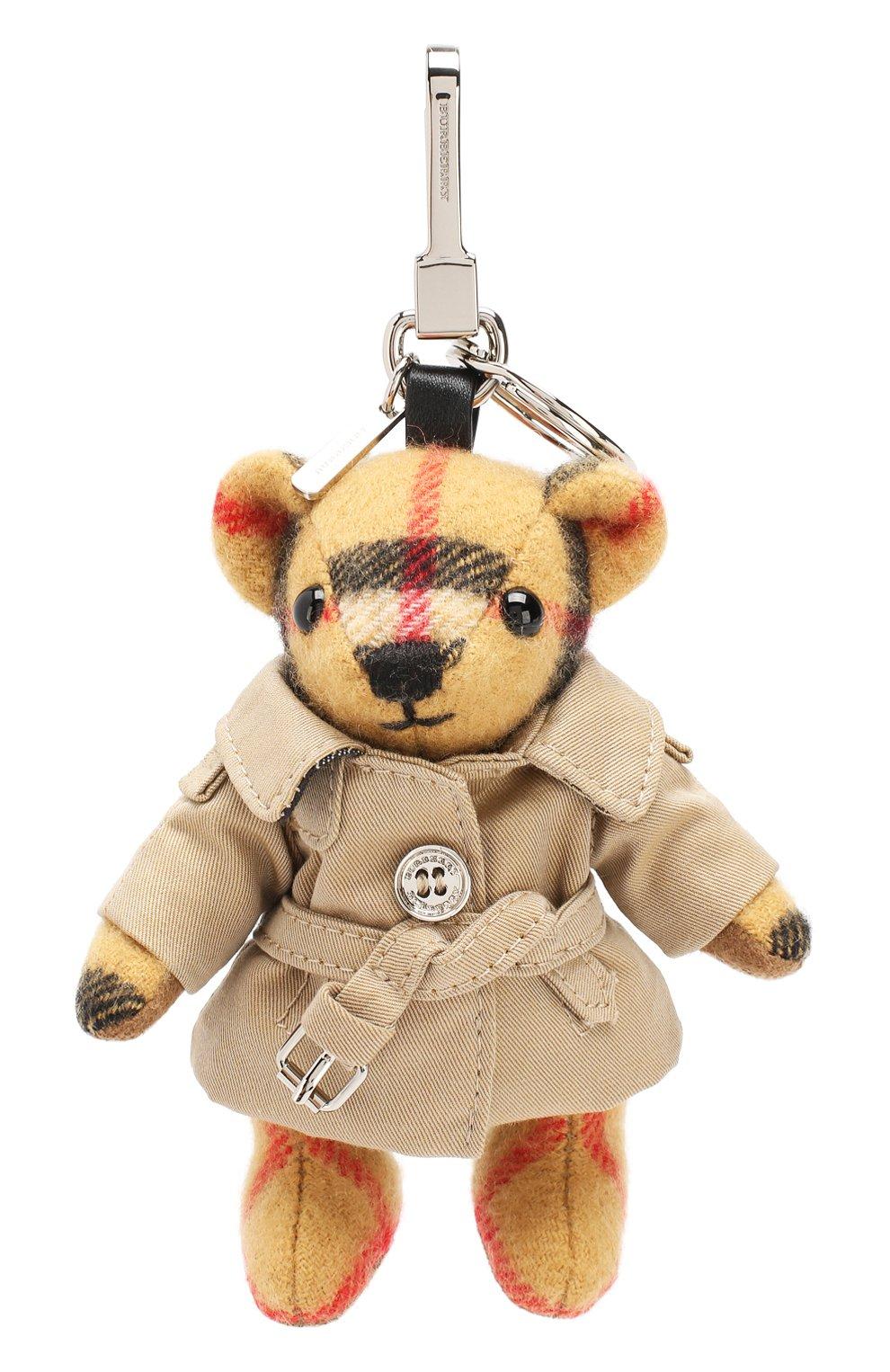Женский брелок thomas bear в тренче с принтом BURBERRY бежевого цвета, арт. 8003331 | Фото 1