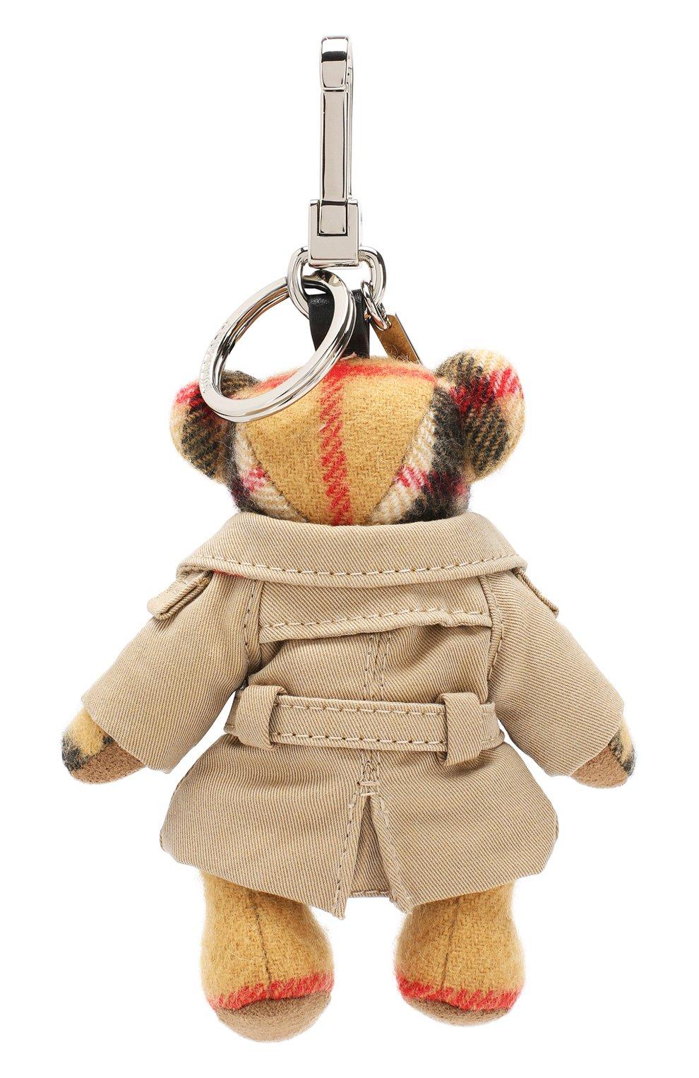 Женский брелок thomas bear в тренче с принтом BURBERRY бежевого цвета, арт. 8003331 | Фото 2