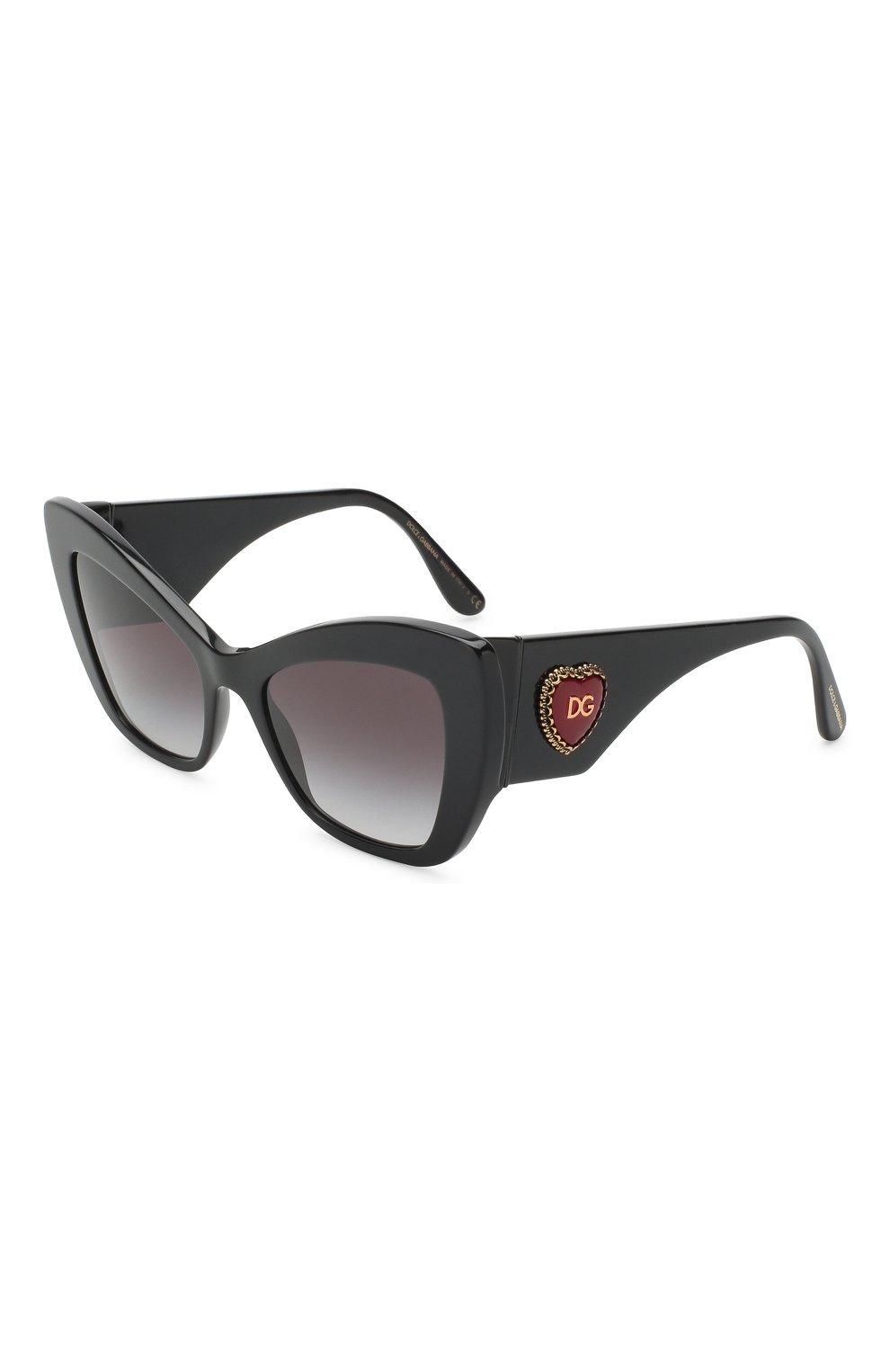 Женские солнцезащитные очки DOLCE & GABBANA черного цвета, арт. 4349-501/8G | Фото 1