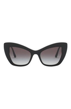 Женские солнцезащитные очки DOLCE & GABBANA черного цвета, арт. 4349-501/8G | Фото 2
