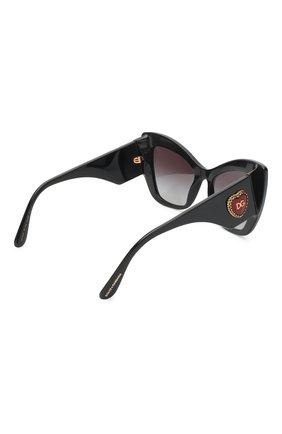 Женские солнцезащитные очки DOLCE & GABBANA черного цвета, арт. 4349-501/8G | Фото 3