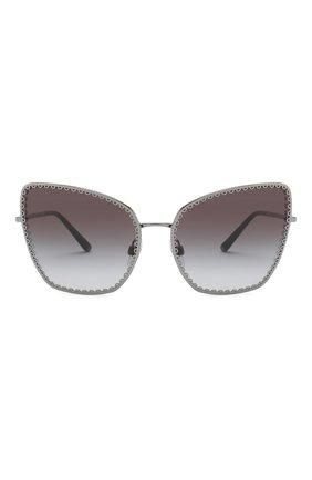 Женские солнцезащитные очки DOLCE & GABBANA серого цвета, арт. 2212-04/8G | Фото 2