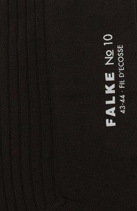 Мужские хлопковые носки FALKE темно-коричневого цвета, арт. 14649 | Фото 2