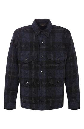Рубашка из смеси шерсти и кашемира с воротником кент | Фото №1