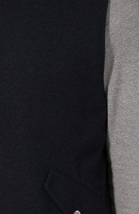 Кашемировый жилет на кнопках с капюшоном   Фото №5