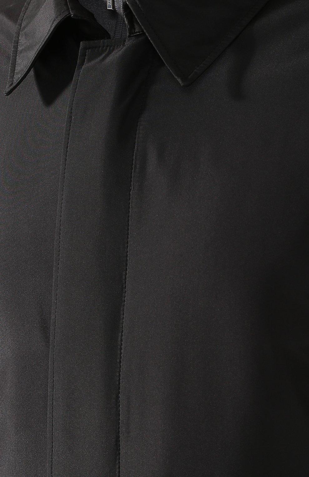 Мужской шелковый плащ на молнии прямого кроя ZILLI черного цвета, арт. MAQ-TIMBU-30036/0002 | Фото 5