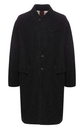 Однобортное пальто из смеси шерсти и хлопка | Фото №1