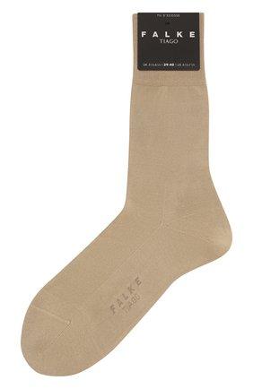 Мужские хлопковые носки tiago FALKE светло-бежевого цвета, арт. 14662 | Фото 1