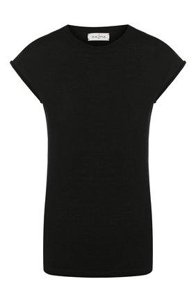 Кашемировая футболка с круглым вырезом | Фото №1