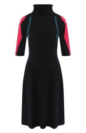 Кашемировое платье с высоким воротником   Фото №1