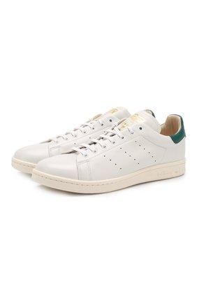 Кожаные кроссовки Stan Smith на шнуровке   Фото №1