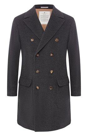Двубортное пальто из смеси шерсти и кашемира   Фото №1