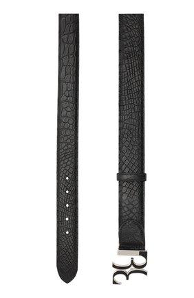 Мужской ремень из кожи аллигатора с металлической пряжкой BILLIONAIRE черного цвета, арт. W18A MVA0259 BLE007C/AMIS | Фото 2