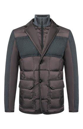 Пуховая куртка Arnold на пуговицах | Фото №1