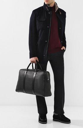 Кожаный портфель на молнии | Фото №2