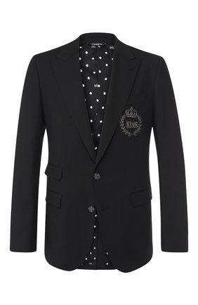 Однобортный пиджак с вышивкой   Фото №1