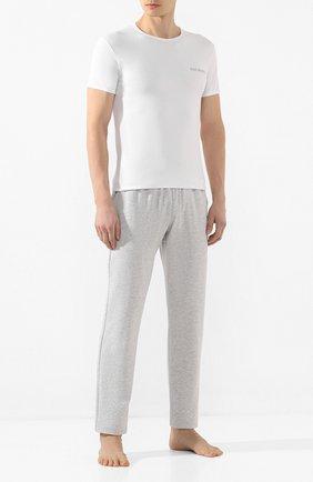 Мужская комплект из двух хлопковых футболок DIRK BIKKEMBERGS белого цвета, арт. B41308T48 | Фото 2