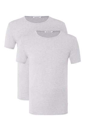 Мужские комплект из двух хлопковых футболок DIRK BIKKEMBERGS серого цвета, арт. B41308T48 | Фото 1
