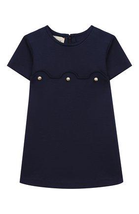 Женская мини-платье из вискозы GUCCI синего цвета, арт. 518796/X7C32 | Фото 1