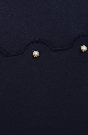 Женская мини-платье из вискозы GUCCI синего цвета, арт. 518796/X7C32 | Фото 3
