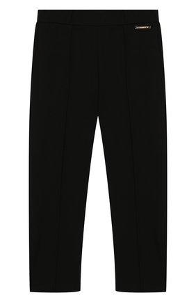 Детские брюки из вискозы TWINSET черного цвета, арт. GA82F1/6A-10A | Фото 1