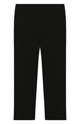 Детские брюки из вискозы TWINSET черного цвета, арт. GA82F1/6A-10A | Фото 2