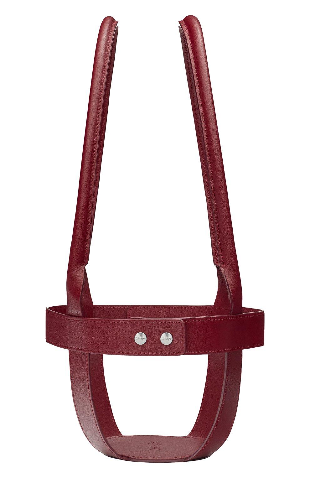 Мужского кожаный держатель для набора mood CHRISTOFLE бордового цвета, арт. 07753299 | Фото 2