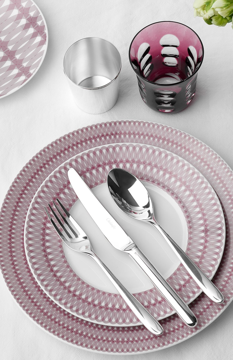 Мужского обеденная тарелка mood nomade CHRISTOFLE бордового цвета, арт. 07685115 | Фото 3