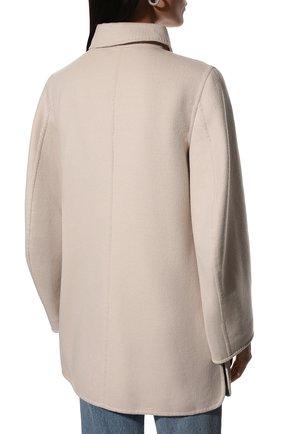 Однотонное пальто с накладными карманами | Фото №4