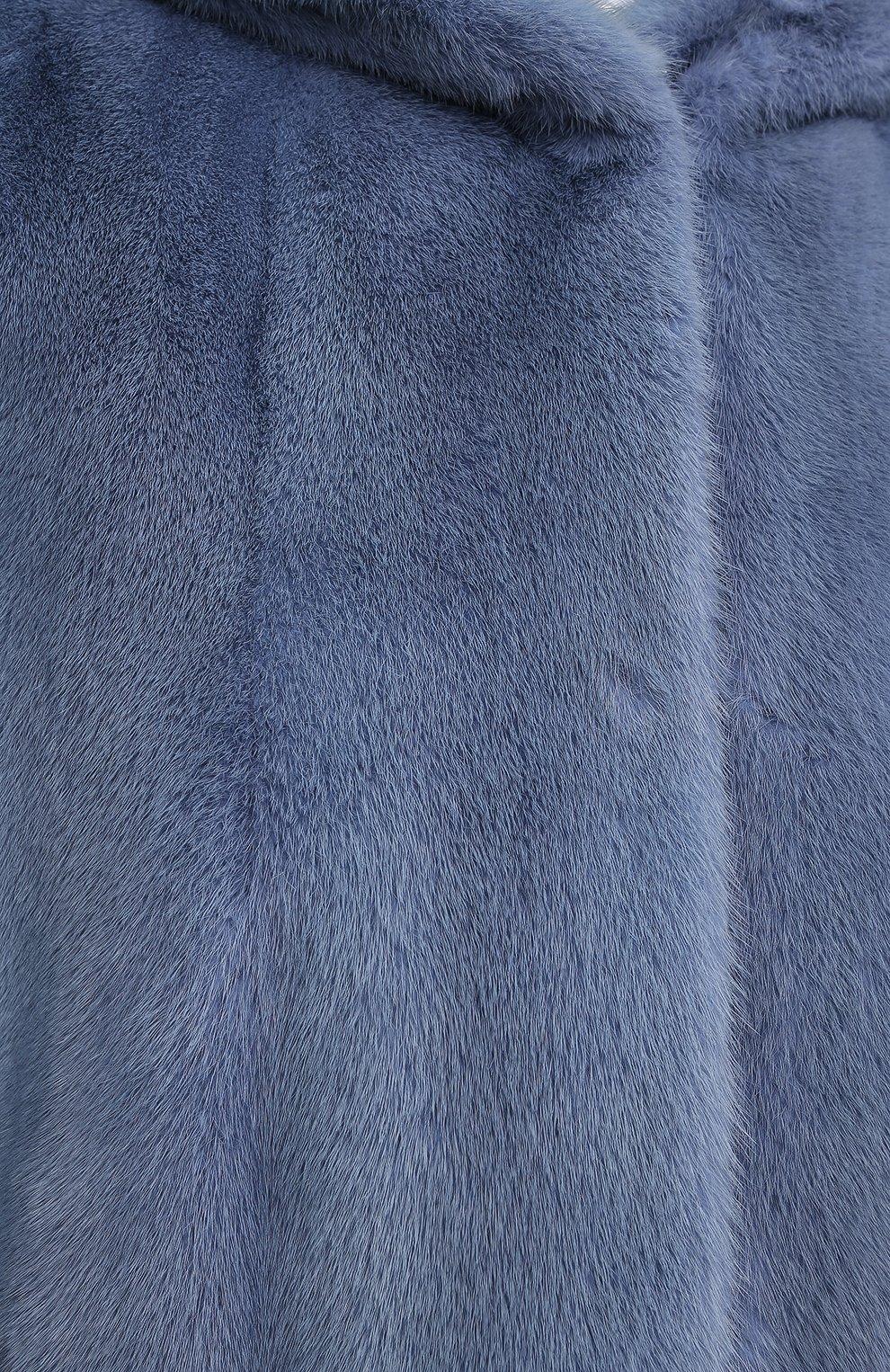 Шуба из меха норки с капюшоном | Фото №5
