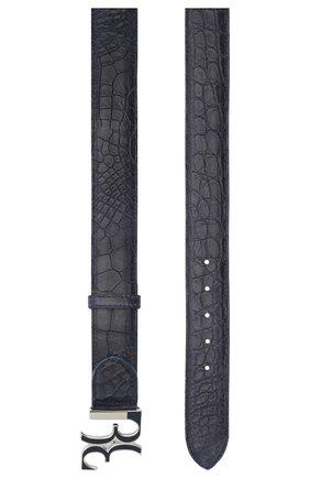 Ремень из кожи аллигатора с металлической пряжкой | Фото №2