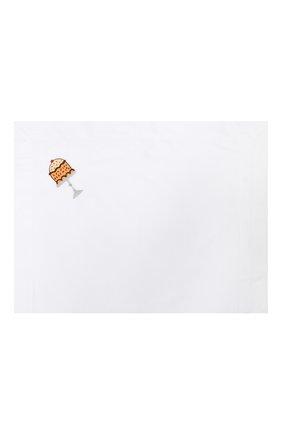 Детского хлопковый комплект из простыни и наволочки LORETTA CAPONI белого цвета, арт. 182K20218300701 | Фото 2