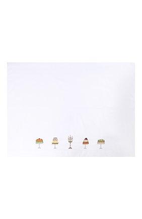 Детского хлопковый комплект из простыни и наволочки LORETTA CAPONI белого цвета, арт. 182K20218300701 | Фото 3