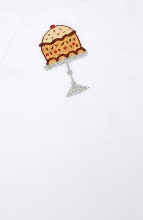 Детского хлопковый комплект из простыни и наволочки LORETTA CAPONI белого цвета, арт. 182K20218300701 | Фото 4