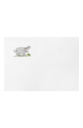 Детского хлопковый комплект из простыни и наволочки LORETTA CAPONI белого цвета, арт. 182K20278300701 | Фото 2