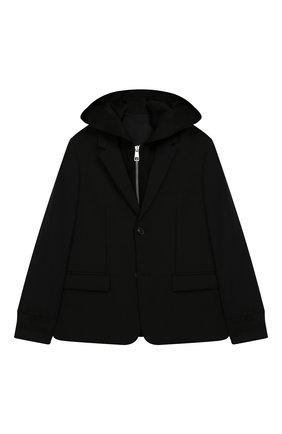 Пиджак с подстежкой и капюшоном | Фото №1