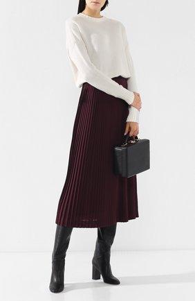 Женские кожаные сапоги tilda  LORO PIANA черного цвета, арт. FAI3424 | Фото 2